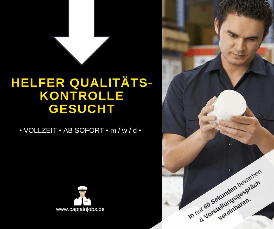 12 - Mitarbeiter für Qualitätskontrolle (m/w/d)