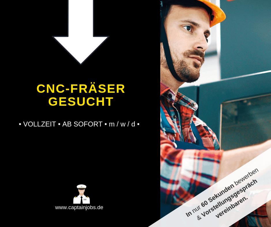 CNC Fräser - CNC-Fräser (m/w/d) in Essen gesucht