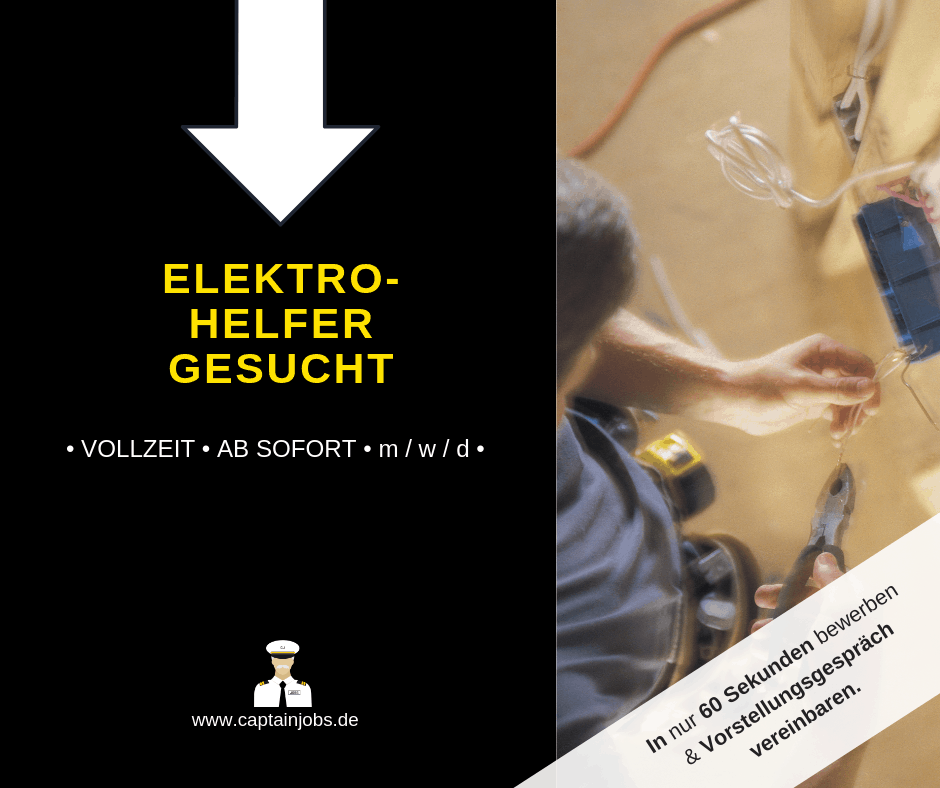 Elektrohelfer - Elektroniker ohne Abschluss (m/w/d) Hamburg