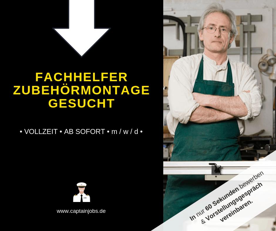 Fachhelfer Zubehörmontage - Helfer Montage (m/w/d)