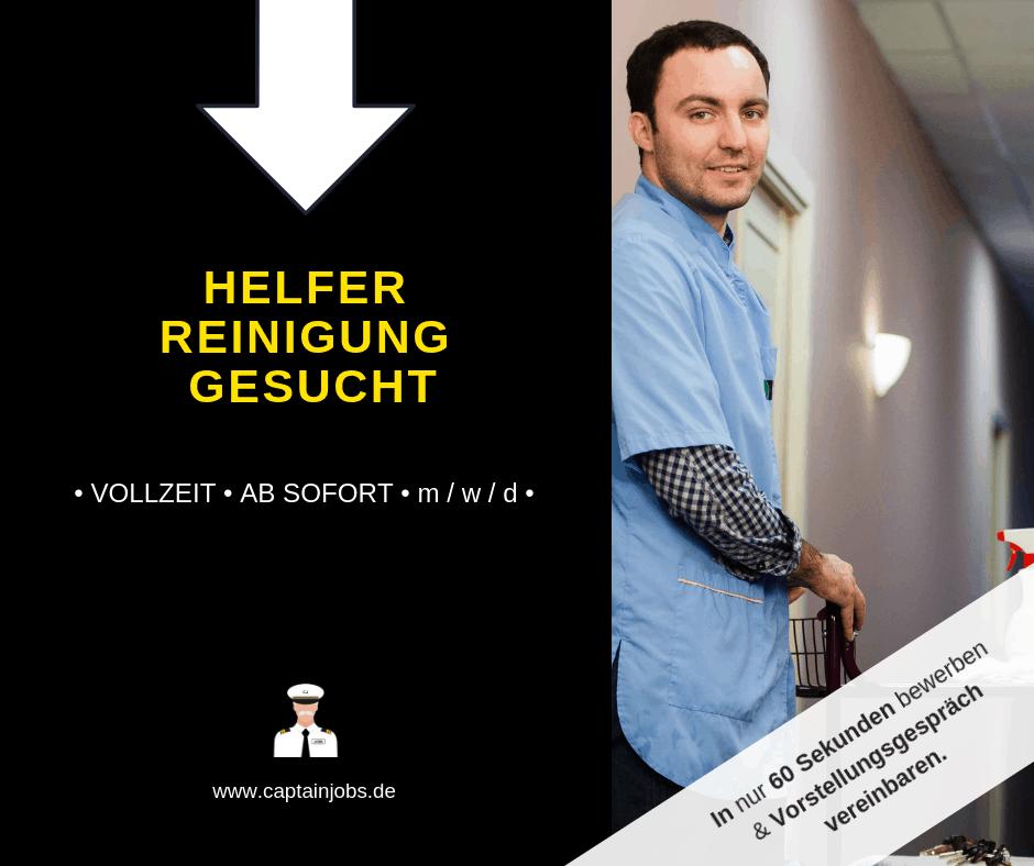 Helfer Reinigung 1 - Reinigungskraft (m/w/d) in Berlin gesucht