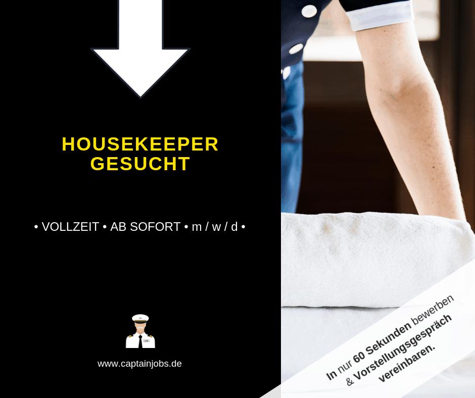 Housekeeper - Mitarbeiter Housekeeping (m/w/d)