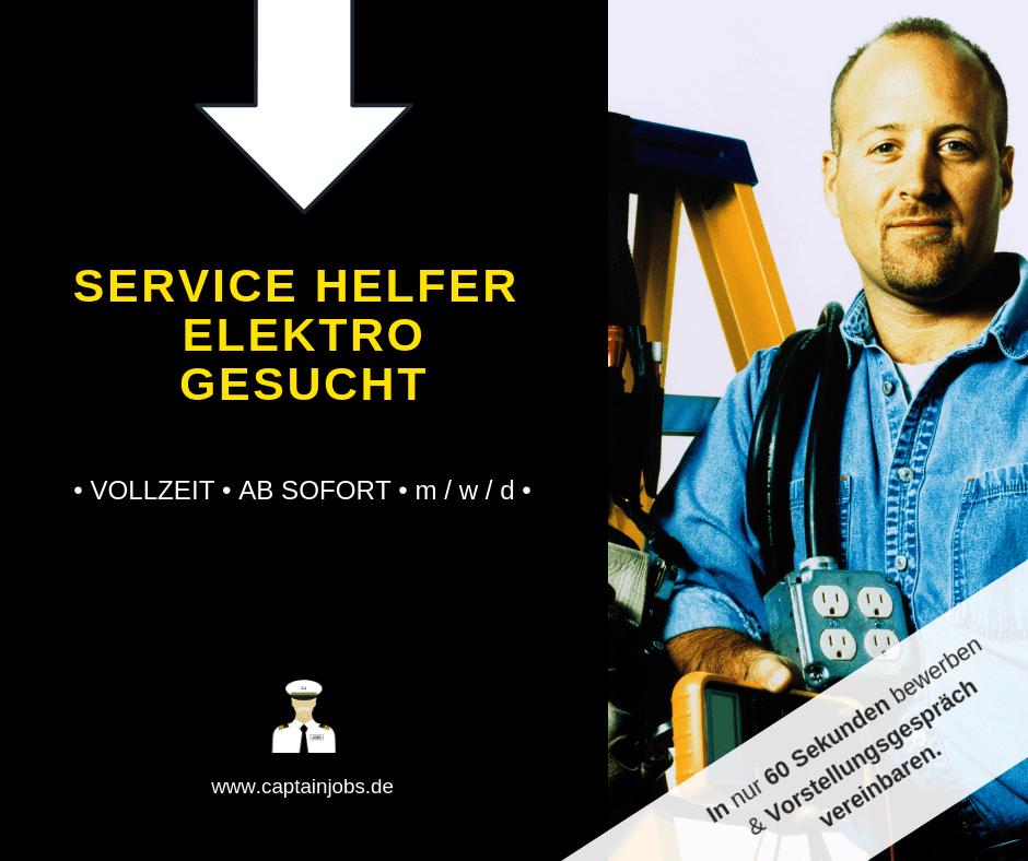 Kopie von Kopie von Captain Jobs Thumbnail 1 - Service Helfer Elektro / Technik (m/w/d) München
