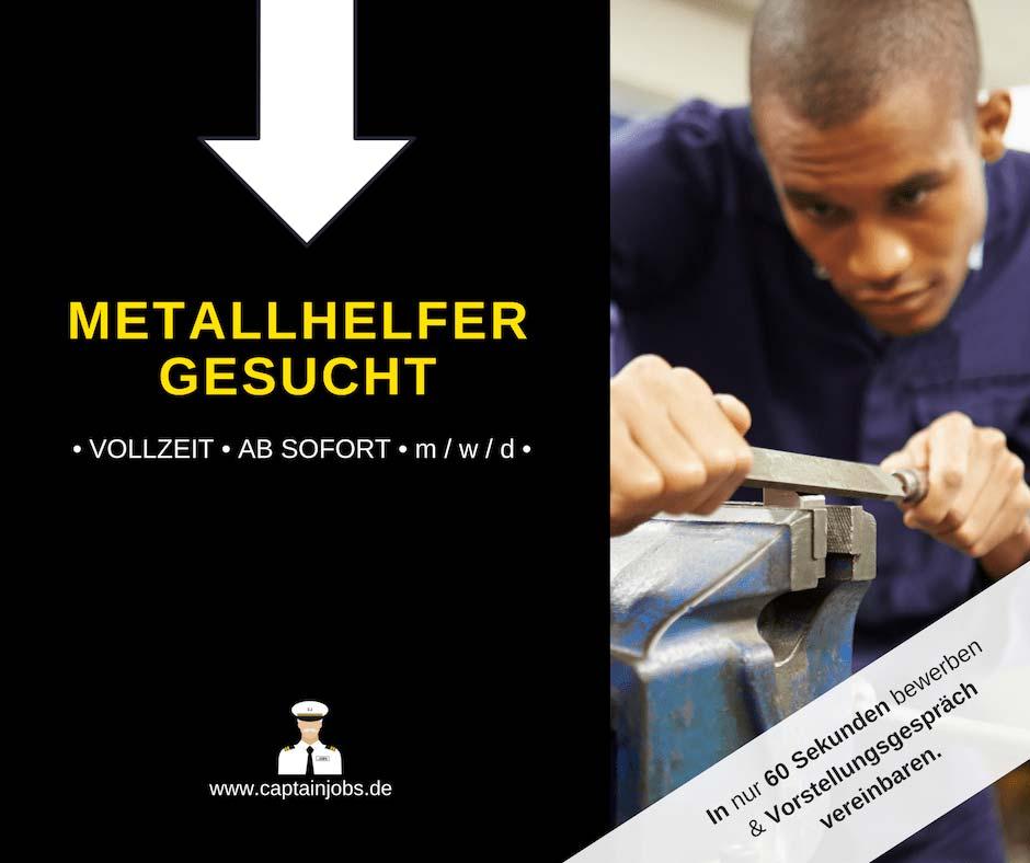 Metallhelfer - Metallbearbeiter (m/w/d) in Berlin gesucht
