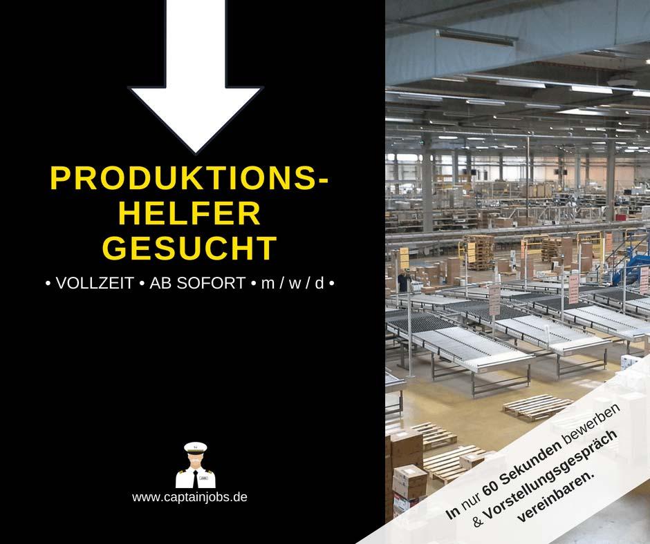 Produktionshelfer - Produktionshelfer in der Lebensmittelbranche (m/w/d)