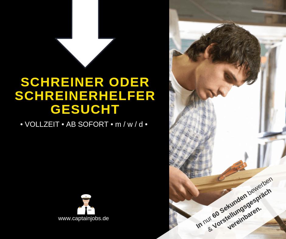 Schreiner - Schreiner/Schreinerhelfer (m/w/d) in Würzburg gesucht